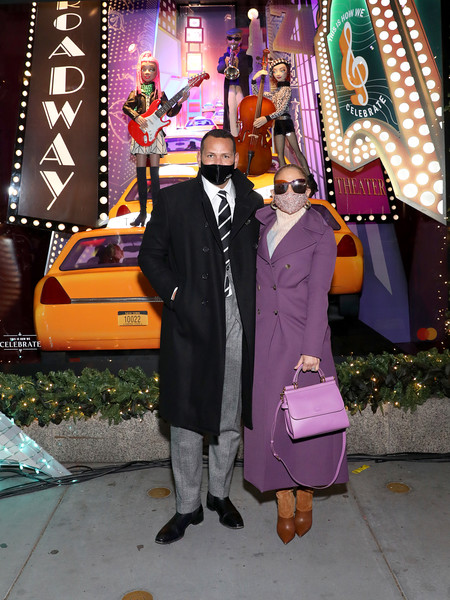Saks Fifth Avenue Holiday Window Unveiling 2020 [event,alex rodriguez,jennifer lopez,saks fifth avenue holiday window,costume,statistics,new york city,saks fifth avenue holiday window unveiling,event,costume,event]