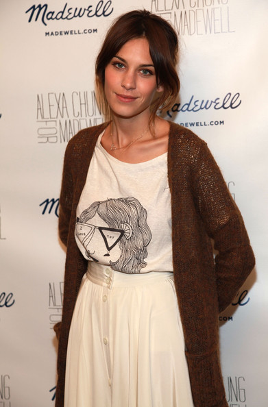 (NORTH AMERICAN SALES ONLY)  Model/designer Alexa Chung attends the Alexa Chung for Madewell launch party celebration during Fashion's Night Out at Madewell Boutique on September 10, 2010 in New York City.