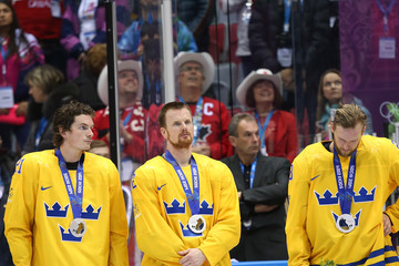 Alexander Edler Daniel Sedin Ice Hockey - Winter Olympics Day 16