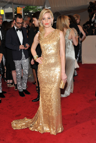 """Actress Elizabeth Banks attends the """"Alexander McQueen: Savage Beauty"""" Costume Institute Gala at The Metropolitan Museum of Art on May 2, 2011 in New York City."""