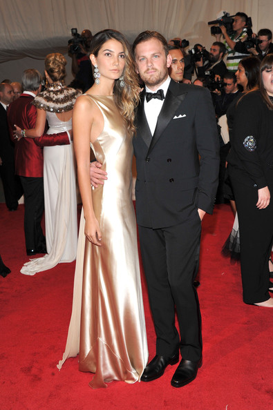"Model Lily Aldridge and musician Caleb Followill attend the ""Alexander McQueen: Savage Beauty"" Costume Institute Gala at The Metropolitan Museum of Art on May 2, 2011 in New York City."