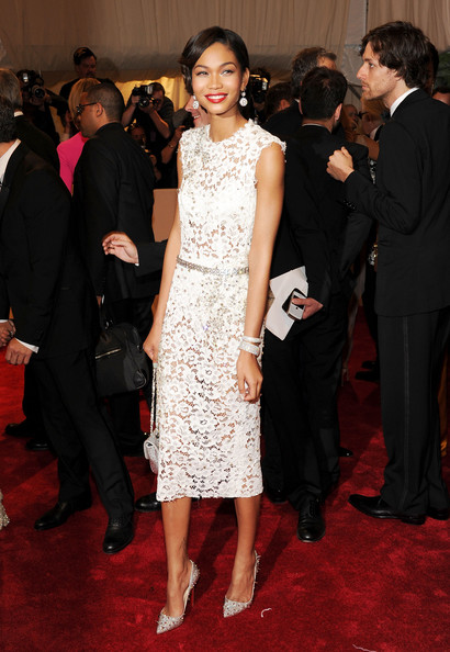 "Model Chanel Iman attends the ""Alexander McQueen: Savage Beauty"" Costume Institute Gala at The Metropolitan Museum of Art on May 2, 2011 in New York City."