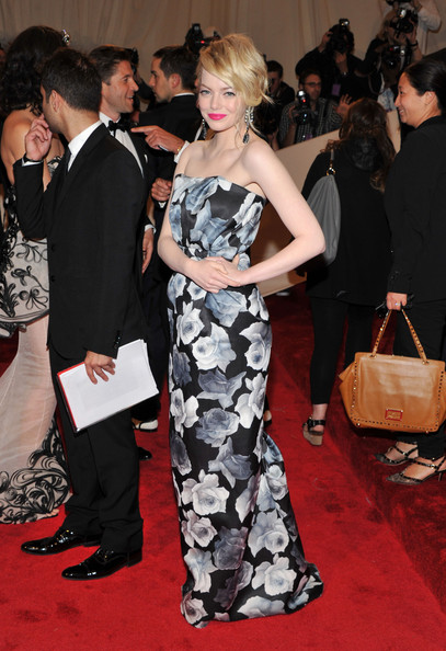 "Actress Emma Stone attends the ""Alexander McQueen: Savage Beauty"" Costume Institute Gala at The Metropolitan Museum of Art on May 2, 2011 in New York City."