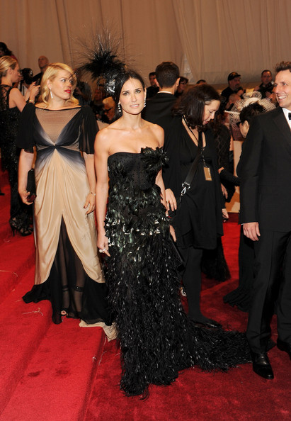 "Actress Demi Moore attends the ""Alexander McQueen: Savage Beauty"" Costume Institute Gala at The Metropolitan Museum of Art on May 2, 2011 in New York City."