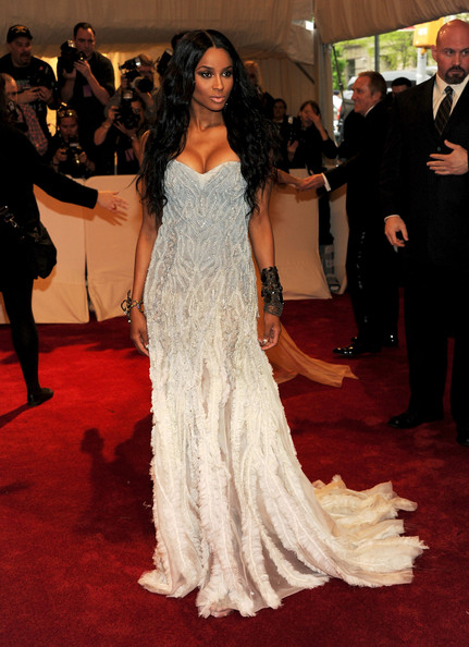"Singer Ciara attends the ""Alexander McQueen: Savage Beauty"" Costume Institute Gala at The Metropolitan Museum of Art on May 2, 2011 in New York City."