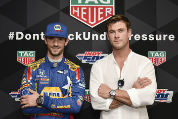 Alexander Rossi TAG Heuer Celebrates The 102nd Running Of The Indianapolis 500 Race As The Official Timepiece With Brand Ambassador, Chris Hemsworth