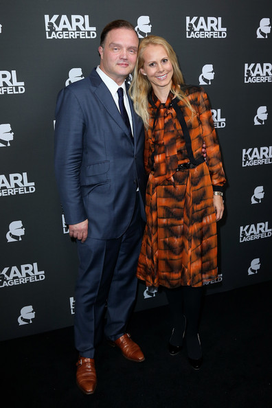 Karl Lagerfeld's Store Opens in Munich [premiere,suit,event,outerwear,carpet,smile,style,performance,munich,karl lagerfeld store,store,germany,schaumburg lippe,alexander,karl lagerfeld,nadja anna]