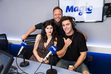 Alexandra Daddario Zac Efron Visits the Magic FM Radio Studio