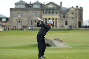 Edoardo Molinari of Italy tees off on the 18th during day four of the 2018 Alfred Dunhill Links Championship at The Old Course on October 7, 2018 in St Andrews, Scotland.