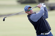Mark Boucher on the second hole during the first round of the Alfred Dunhill Links Championship at The Old Course on October 6, 2016 in St Andrews, Scotland.
