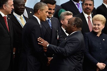 Ali Bongo Ondimba 21st Session of Conference on Climate Change COP21 Opens at Le Bourget