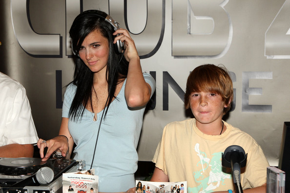Ali Lohan and Cody Lohan attend the Blackberry Brick Breaker contest announcement event at the Z-Com wireless store on July 30, 2009 in New York City.