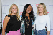 Shannon Rotenberg, Nyakio Kamoche Grieco and Ali Larter attend Ali Larter & Shannon Rotenberg Host Nyakio Launch Event At RONROBINSON at Fred Segal Melrose on May 22, 2018 in Los Angeles, California.