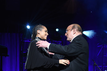 Alicia Keys Clive Davis Inside the Angel Ball in NYC