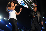 Alicia Keys and Jay-Z perform at Madison Square Garden on March 17, 2010 in New York City.