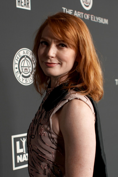 The Art Of Elysium Presents 'WE ARE HEAR'S HEAVEN 2020' - Arrivals [the art of elysium,hair,hairstyle,layered hair,brown hair,shoulder,chin,bangs,long hair,hair coloring,feathered hair,heaven 2020 - arrivals,alicia witt,13th annual celebration - heaven,los angeles,california,hollywood palladium,art of elysium presents,alicia witt,the art of elysium,orange is the new black,actor,celebrity,photography,we are hear]