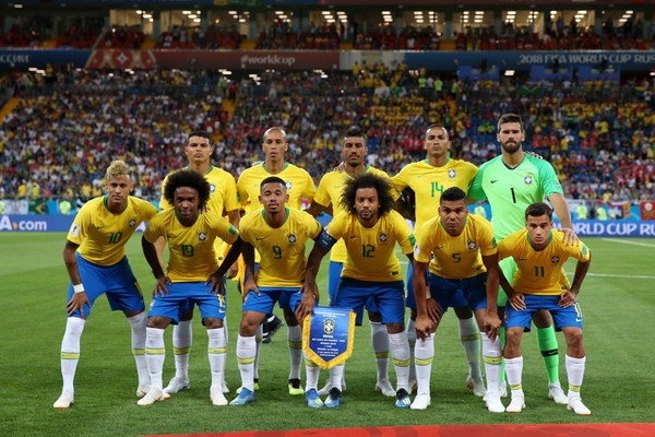 Brazil vs. Switzerland: Group E - 2018 FIFA World Cup Russia [player,sports,team,sport venue,team sport,ball game,soccer player,football player,stadium,product,switzerland: group e - 2018 fifa world cup,match,2018 fifa world cup,russia,switzerland,rostov-on-don,rostov arena,brazil,group,team]