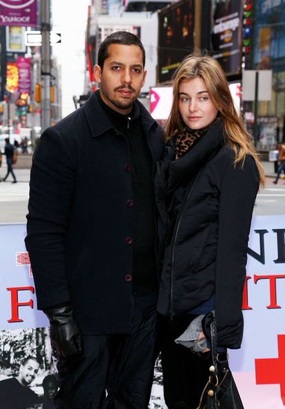 David Blaine with beautiful, cute, Fiancée Alizée Guinochet