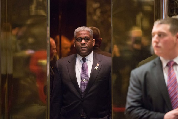 President-Elect Donald Trump Holds Meetings At Trump Tower [suit,event,human,white-collar worker,businessperson,conversation,formal wear,tie,donald trump,allen west,rise,name,trump tower,u.s.,new york city,meetings,election,meetings]