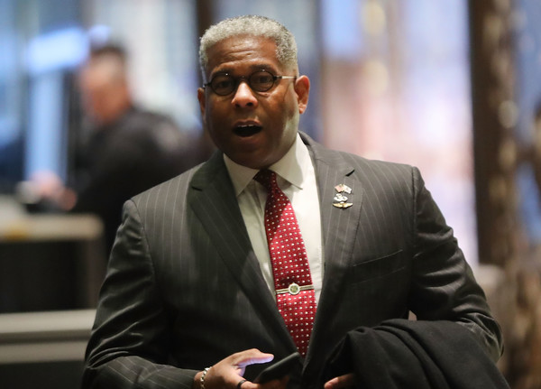President-Elect Donald Trump Holds Meetings At Trump Tower [suit,human,businessperson,official,white-collar worker,event,speech,job,donald trump,allen west,members,trump tower,u.s.,new york city,office,cabinet,meetings,meetings]