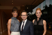 (L-R) Gina Torres, Christian Slater, and Sarah Rafferty attend The Alliance For Children's Rights 26th Annual Dinner at The Beverly Hilton Hotel on March 28, 2018 in Beverly Hills, California.