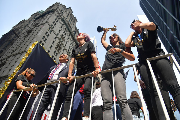 The US Women's National Soccer Team Victory Parade And City Hall Ceremony