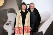 """Marion Bailey and Mike Leigh attend the UK Premiere of """"Allied"""" at Odeon Leicester Square on November 21, 2016 in London, England."""