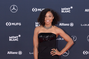 Allyson Felix Red Carpet - 2018 Laureus World Sports Awards - Monaco