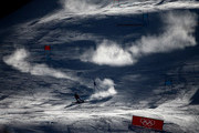 A general view as Tessa Worley of France competes during the Ladies' Giant Slalom on day six of the PyeongChang 2018 Winter Olympic Games at Yongpyong Alpine Centre on February 15, 2018 in Pyeongchang-gun, South Korea.
