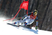 Viktoria Rebensburg of Germany skis during the Alpine Skiing Ladies Super-G on day eight of the PyeongChang 2018 Winter Olympic Games at Jeongseon Alpine Centre on February 17, 2018 in Pyeongchang-gun, South Korea.