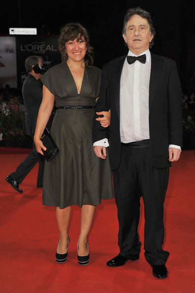 "Producer Athina Rachel Tsangari (L) and actor Johnny Vekris attend the ""Alpis"" premiere during the 68th Venice Film Festival at Palazzo del Cinema on September 3, 2011 in Venice, Italy."