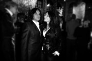 Image was processed using Digital Filters)  Christine Neubauer and Jose Campos attend the Festival Night by Bunte and BMW at Humboldt Carre on February 8, 2013 in Berlin, Germany.