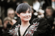 Image has been digitally retouched)  Li Yuchun attends the 71st annual Cannes Film Festival at Palais des Festivals on May 8, 2018 in Cannes, France.