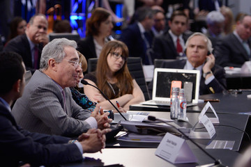 Alvaro Uribe Velez Concordia The Americas Convenes World Leaders To Tackle Challenges In The Region Through Public-Private Partnerships - May 12