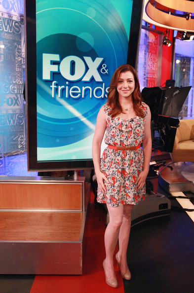 "Actress Alyson Hannigan visits ""FOX & Friends"" at FOX Studios on July 18, 2011 in New York City."