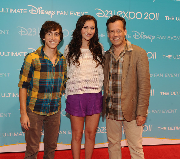 Alyson Stoner (L-R) Actor Vincent Martella, actress Alyson Stoner and actor Dee Bradley Baker attend Day 2 of Disney's D23 Expo 2011 at the Anaheim Convention Center on August 20, 2011 in Anaheim, California.