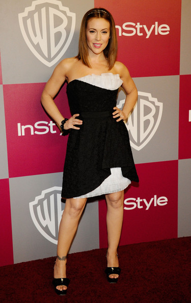 Alyssa Milano Actress Alyssa Milano arrives at the 2011 InStyle And Warner Bros. 68th Annual Golden Globe Awards post-party held at The Beverly Hilton hotel on January 16, 2011 in Beverly Hills, California.