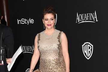 Alyssa Milano InStyle And Warner Bros. Golden Globes Party — Part 2