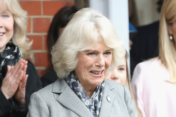 Amanda Holden The Duchess Of Cornwall Visits Battersea Dogs & Cats Home, Old Windsor