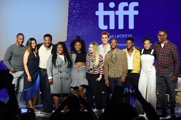 Amandla Stenberg Algee Smith 2018 Toronto International Film Festival - 'The Hate U Give' Press Conference