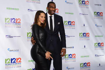 Amare Stoudemire Alexis Welch 12-12-12 Concert Benefiting The Robin Hood Relief Fund To Aid The victims Of Hurricane  - Press Room