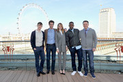 Actors Dane DeHaan, Andrew Garfield, Emma Stone, Jamie Foxx and director Marc Webb attend 'The Amazing Spider-Man 2' Cast and Filmmaker photocall at the Park Plaza Hotel on April 9, 2014 in London, England.