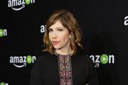 Actress/musician Carrie Brownstein attends Amazon's Golden Globe Awards Celebration at The Beverly Hilton Hotel on January 10, 2016 in Beverly Hills, California.