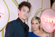 Christopher French (L) and Ashley Tisdale attend the Amazon Prime Video post Emmy Awards party at Cecconi's on September 17, 2018 in West Hollywood, California.