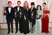 (L-R) Michael Zegen, Daniel Palladino,  Jennifer Salke, Amy Sherman-Palladino, Alex Borstein and Rachel Brosnahan attend the Amazon Prime Video post Emmy Awards party at Cecconi's on September 17, 2018 in West Hollywood, California.