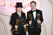 Amy Sherman-Palladino (L) and Daniel Palladino attend the Amazon Prime Video post Emmy Awards party at Cecconi's on September 17, 2018 in West Hollywood, California.