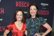 Actresses Sarah Clarke and Mimi Rogers attend Amazon Red Carpet Premiere Screening For Season Two Of Original Drama Series, 'Bosch' on March 3, 2016 in Los Angeles, California.