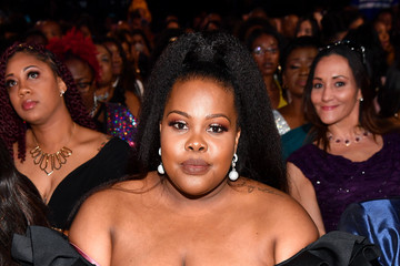 Amber Riley BET Presents: 2018 Soul Train Awards - Backstage & Audience
