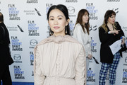 Hong Chau attends The 2020 Film Independent Spirit Awards with American Airlines at The 2020 Film Independent Spirit Awards on February 08, 2020 in Santa Monica, California.