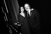 Image has been shot in black and white. Color version not available.) Rachel Morrison (L) and American Film Institute President and CEO Bob Gazzale attend the American Film Institute's 46th Life Achievement Award Gala Tribute to George Clooney at Dolby Theatre  on June 7, 2018 in Hollywood, California.  390073